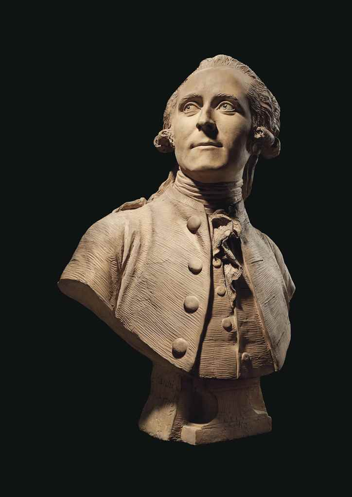 A TERRACOTTA BUST OF A GENTLEM
