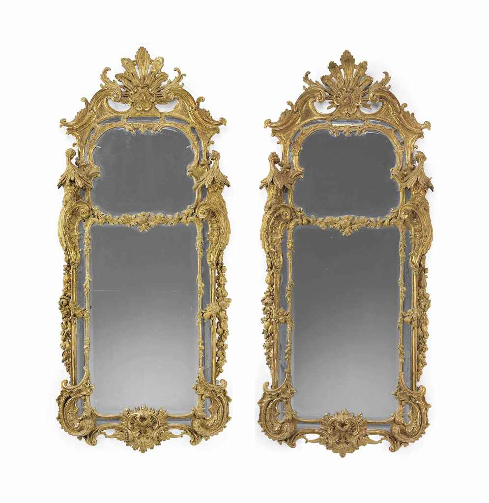 A PAIR OF GEORGE II GILTWOOD M