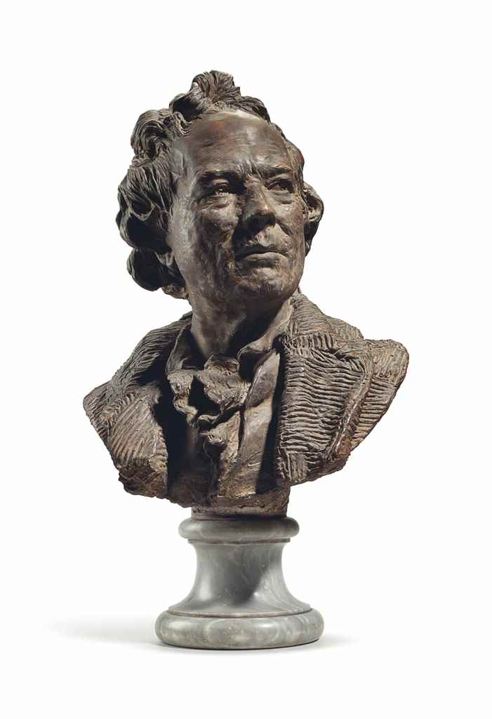 A TERRACOTTA BUST OF CHRISTOPH