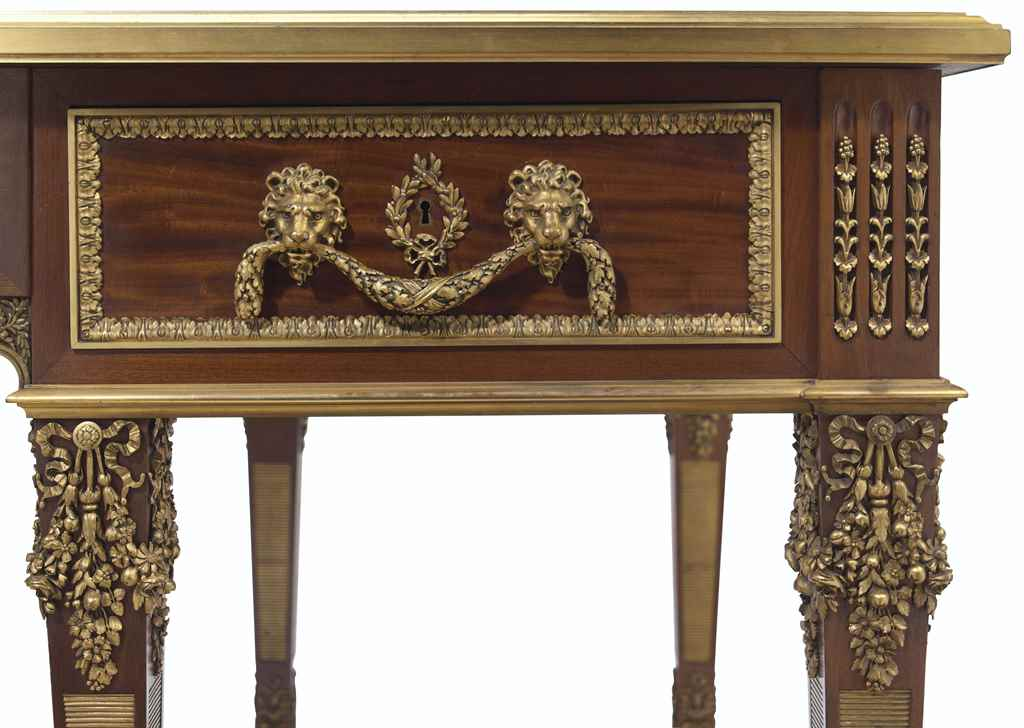 A LARGE FRENCH ORMOLU-MOUNTED