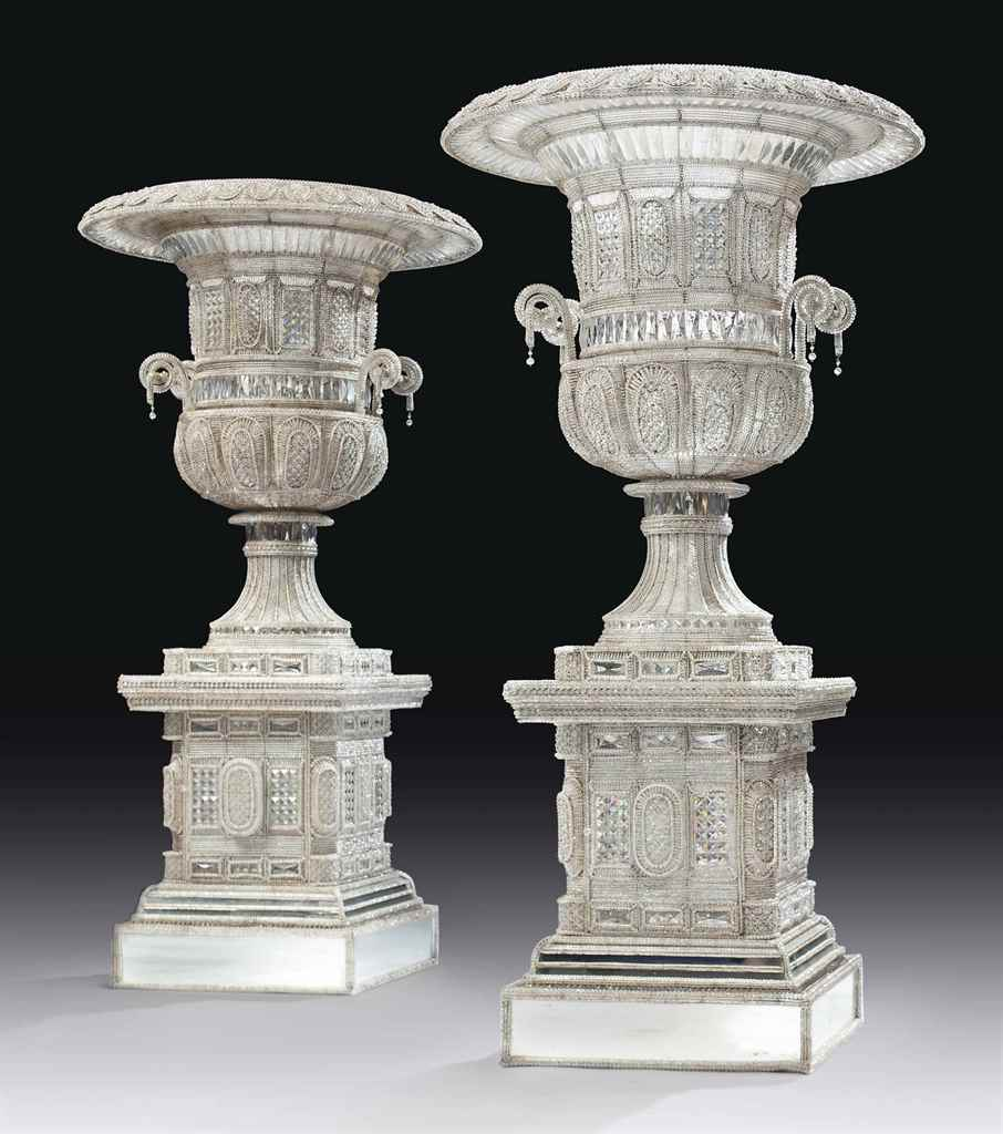 A PAIR OF MONUMENTAL ITALIAN C