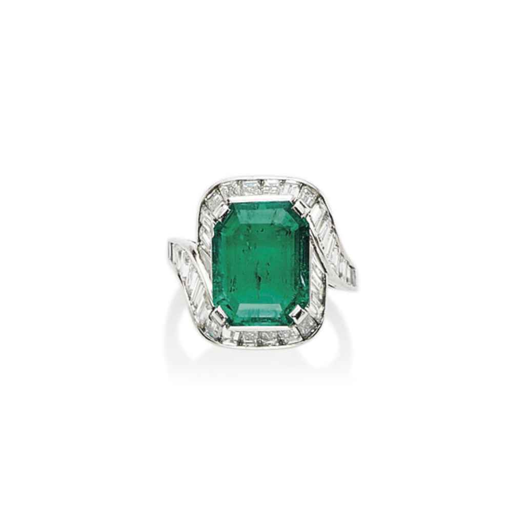 an emerald and ring by bulgari christie s