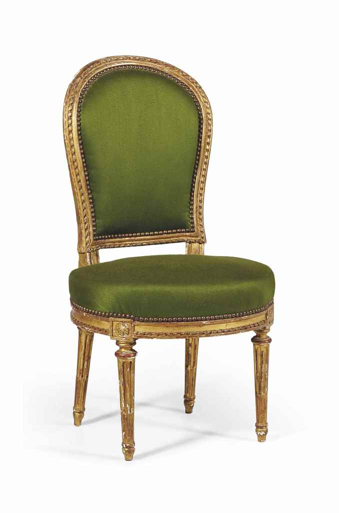 Chaise en cabriolet d 39 epoque louis xvi dernier quart du for Chaise xixeme siecle