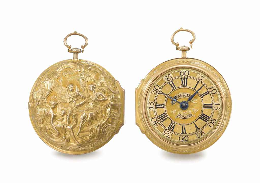 Cabrier. A fine 18K gold pair