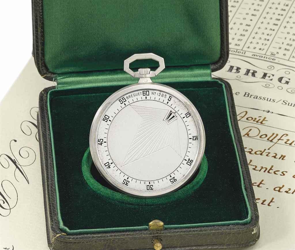 """Breguet, No. 1285 """"montre à ca"""
