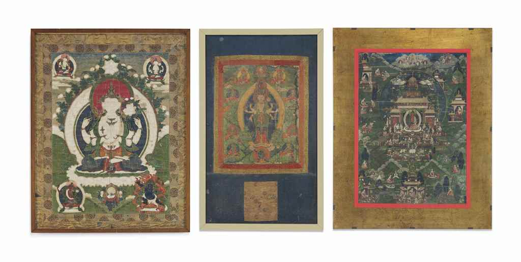 THREE THANGKAS OF SADAKSHARILO