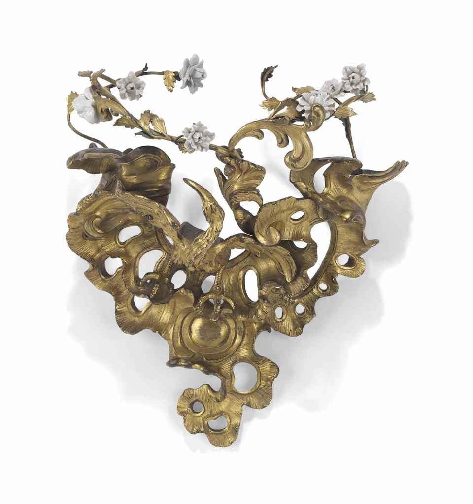A LOUIS XV ORMOLU WALL BRACKET
