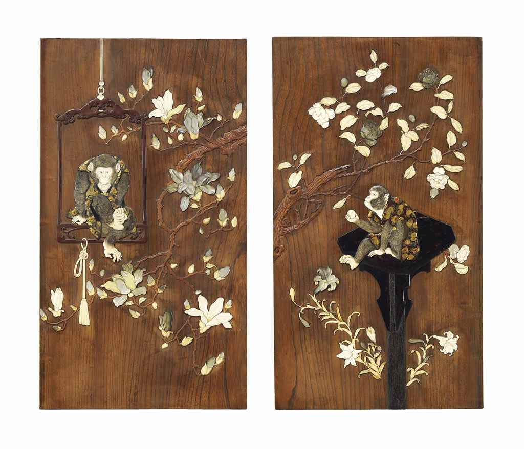A PAIR OF JAPANESE INLAID AND