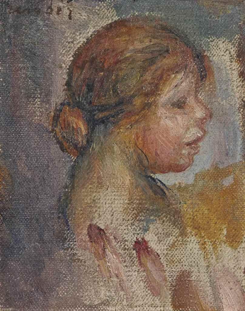 PierreAuguste Renoir (18411919) , Tête de jeune fille de