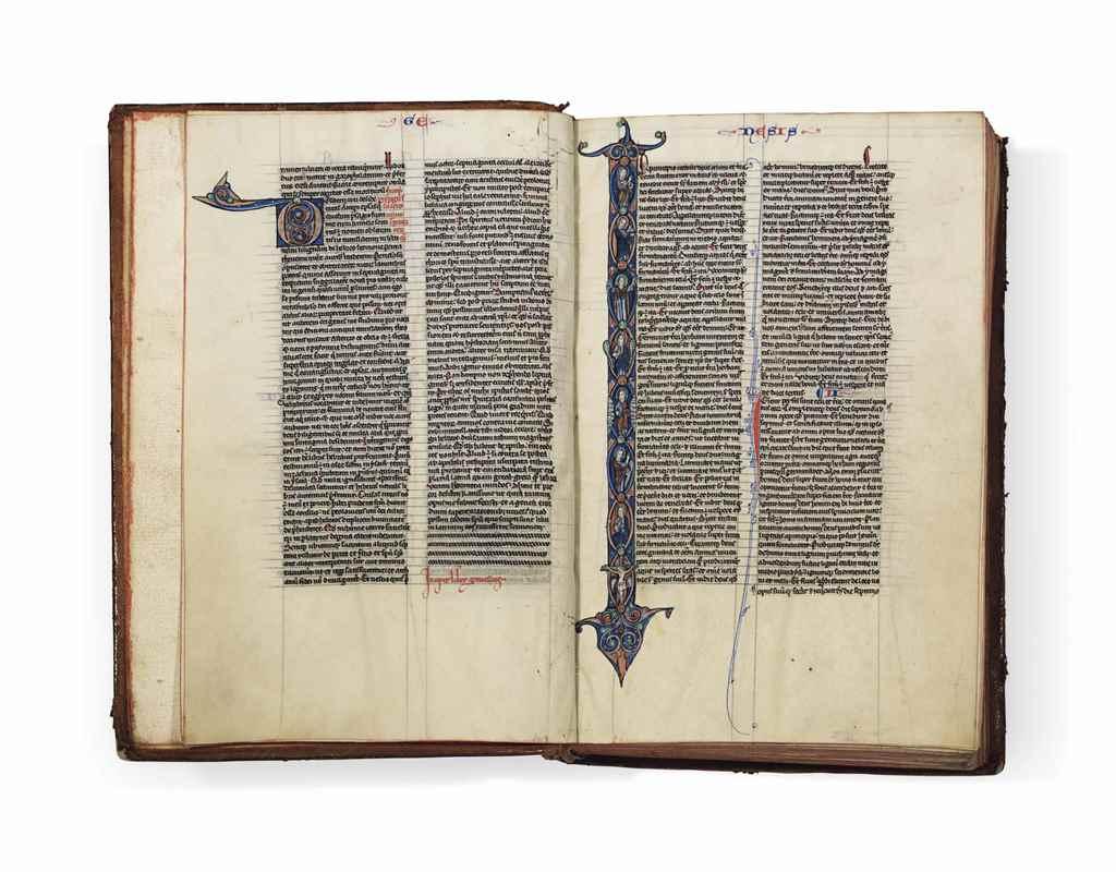 BIBLE, in Latin, illuminated m
