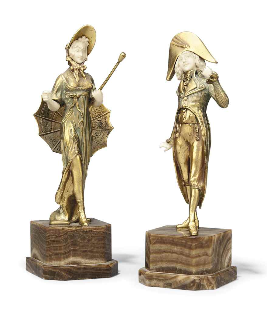 A PAIR OF FRENCH BRONZE AND IV