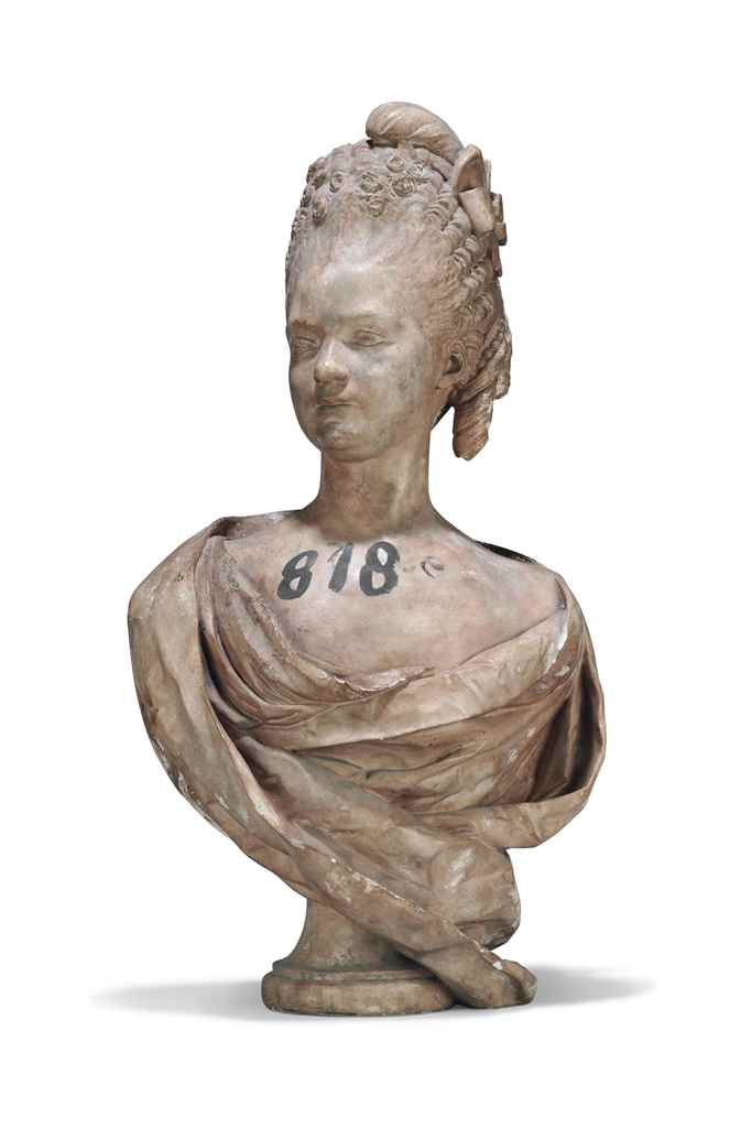 A PLASTER BUST OF CLOTILDE DE