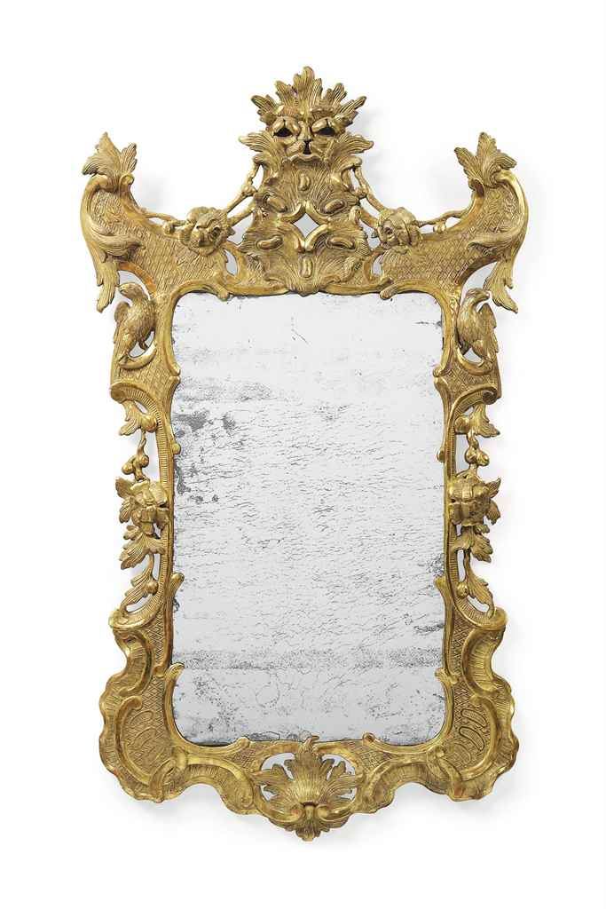 AN IRISH GILTWOOD MIRROR