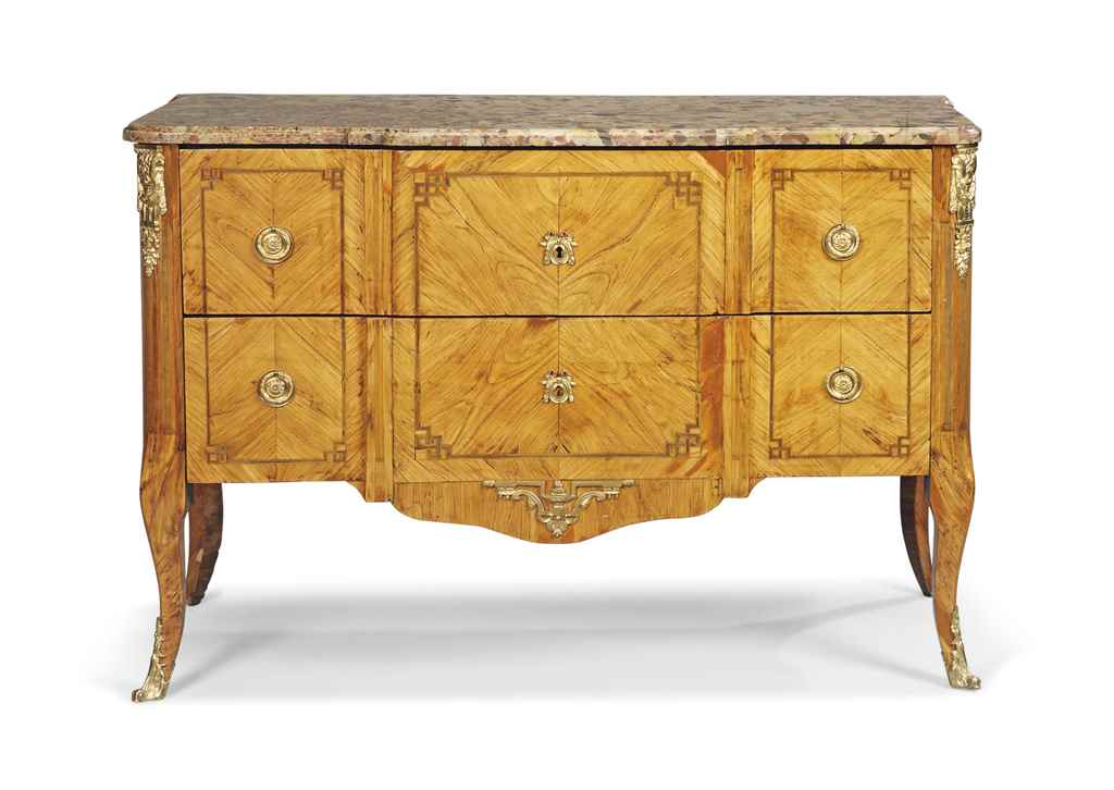 A LOUIS XVI TULIPWOOD AND HARE