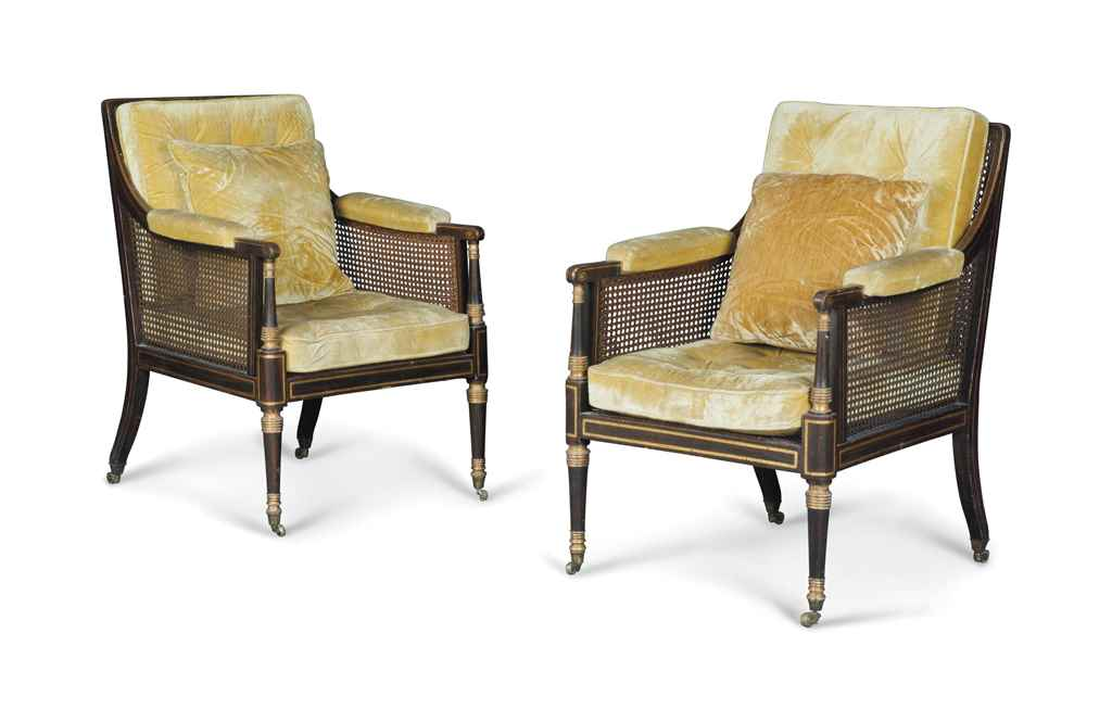 A PAIR OF REGENCY SIMULATED RO