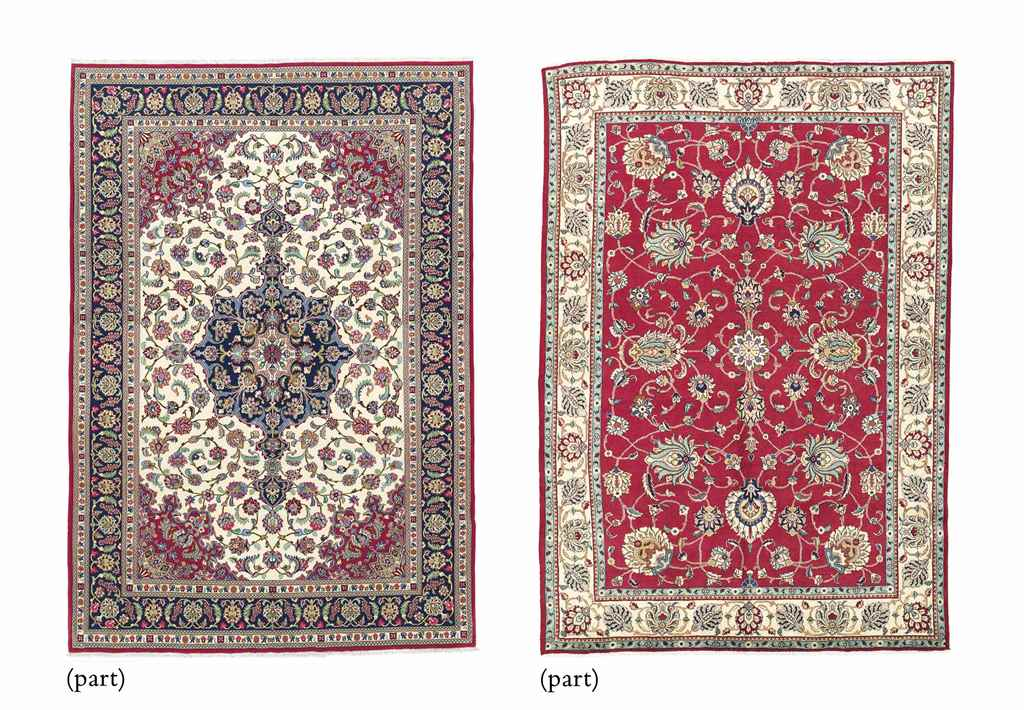 A TABRIZ CARPET & QUM CARPET