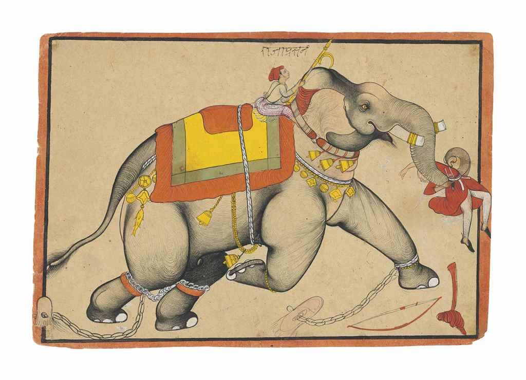 A RAMPAGING ELEPHANT