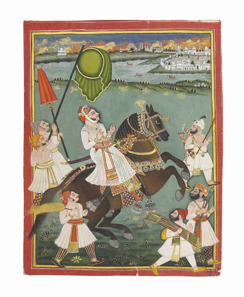 EQUESTRIAN PORTRAIT OF MADAN S