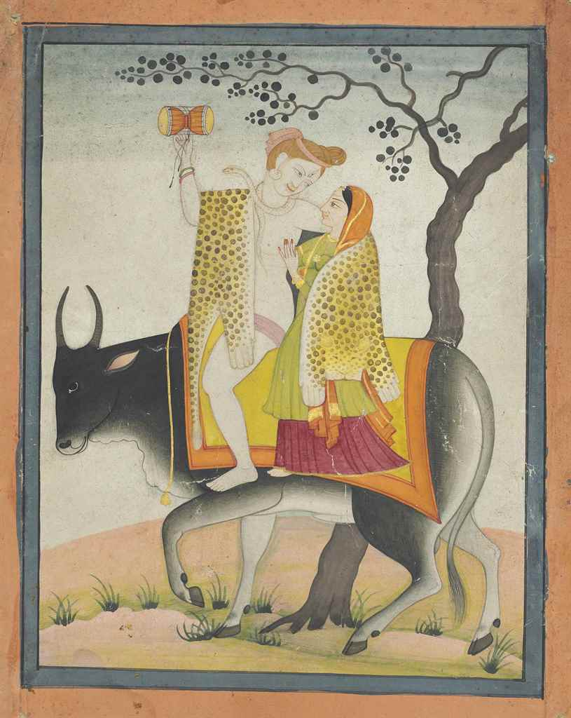 SHIVA AND PARVATI ON NANDI