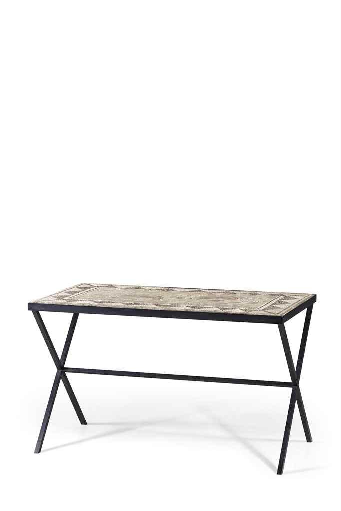 Plateau de mosaique dans le gout de l 39 antique monte en table christie - Table exterieur mosaique ...