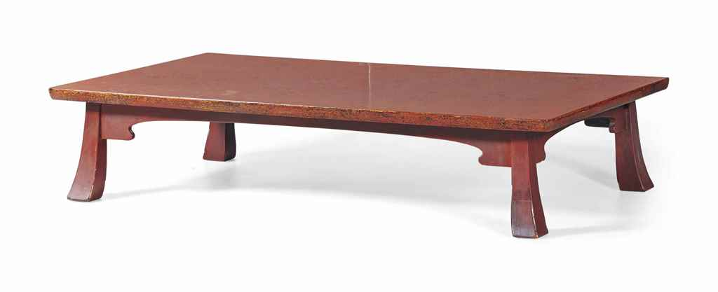 Table basse en laque japon christie 39 s - Table basse rouge laque ...