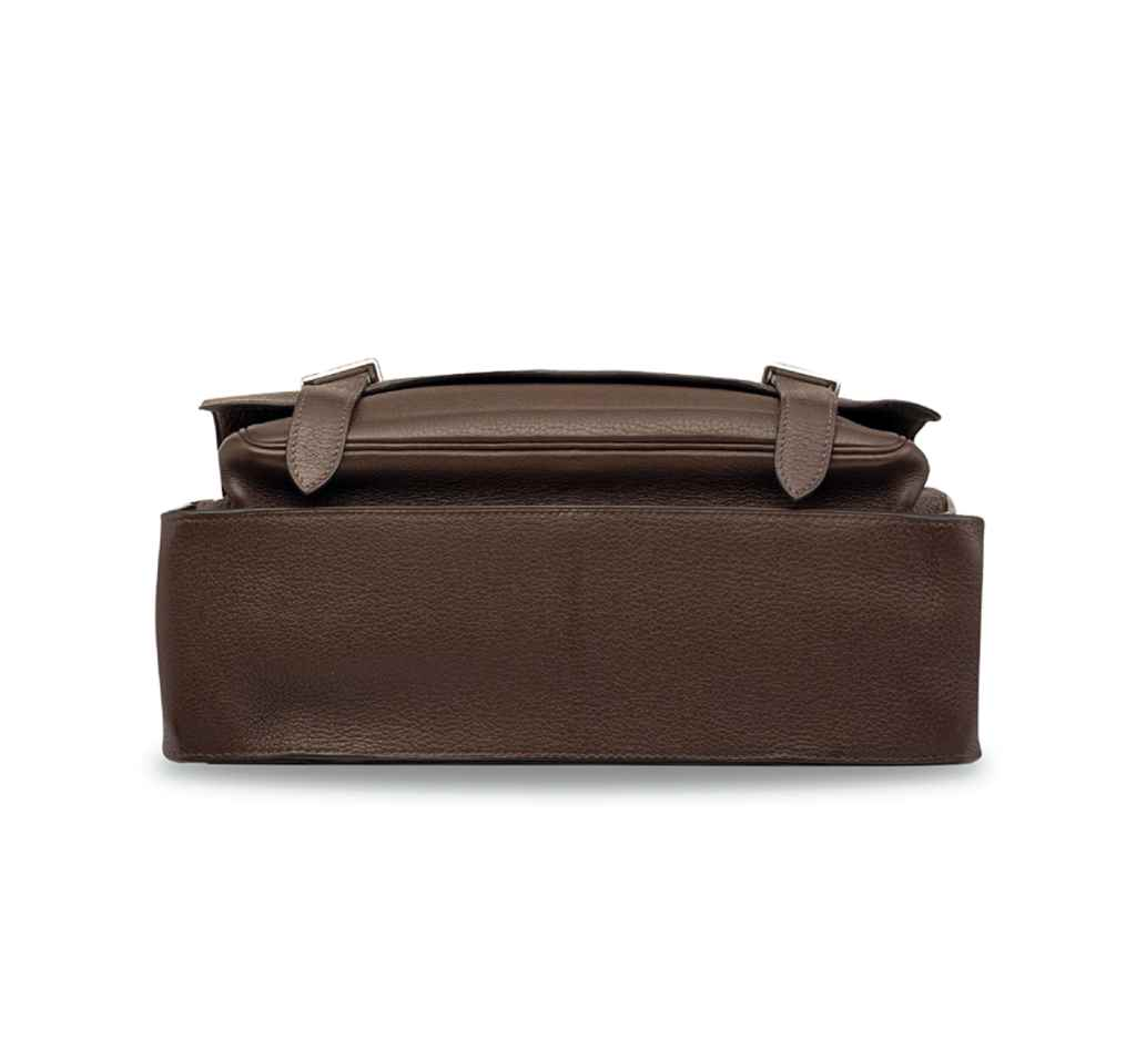 A CHOCOLATE CLÉMENCE LEATHER S