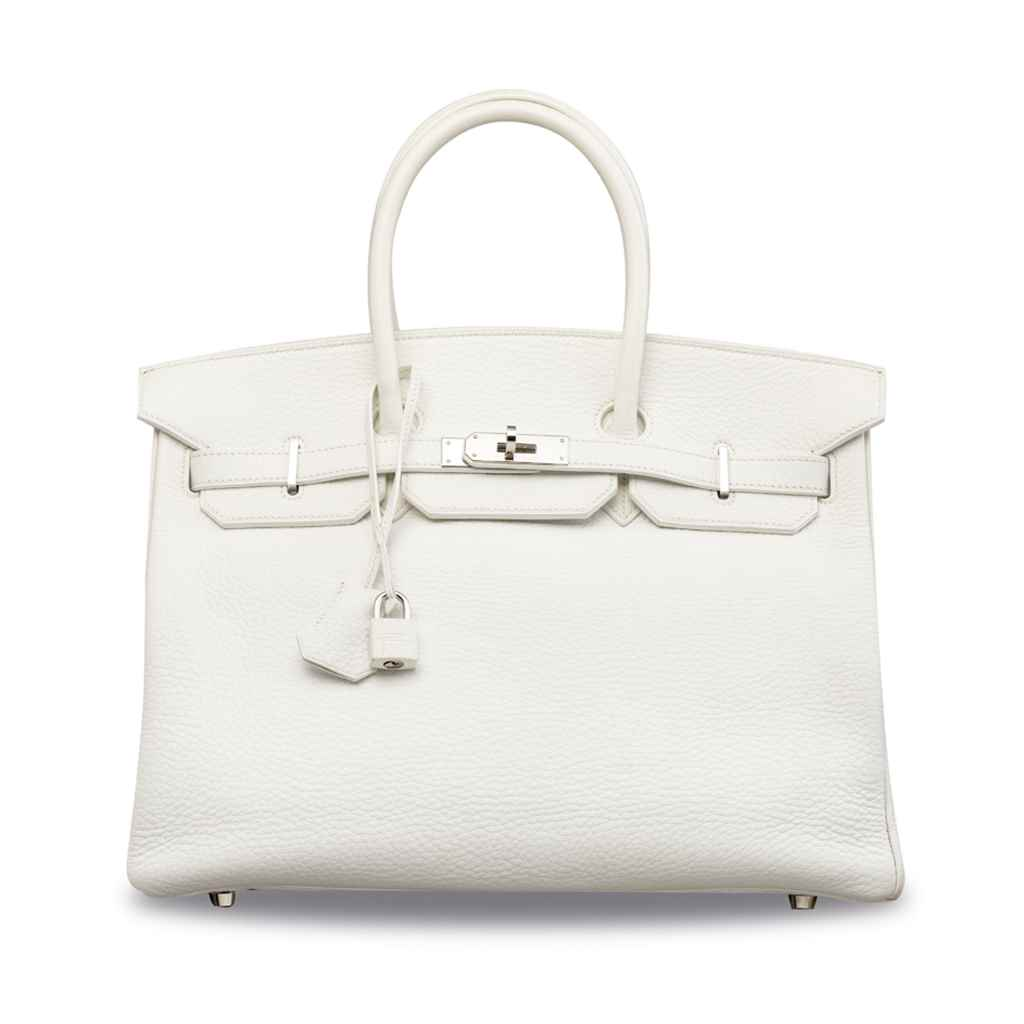 A WHITE CLÉMENCE LEATHER BIRKI