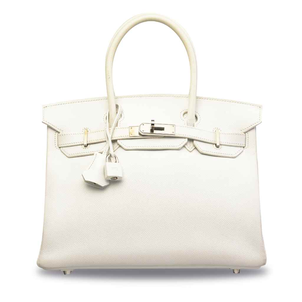 A WHITE EPSOM LEATHER BIRKIN 3