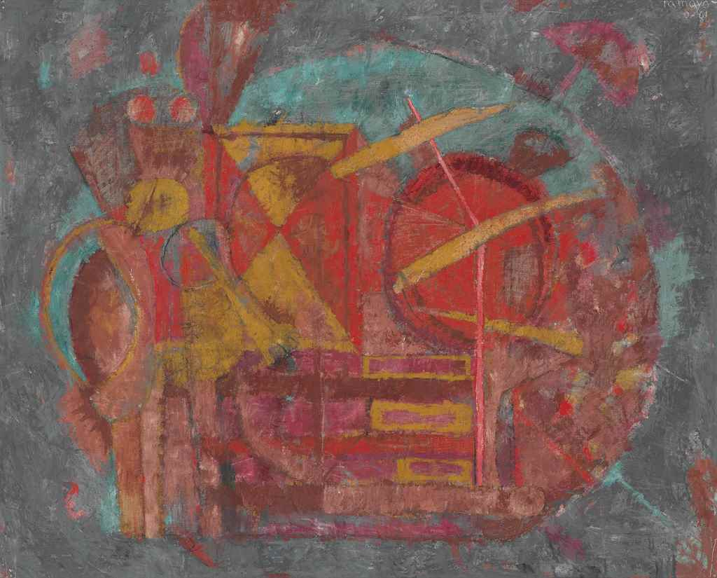 Rufino tamayo 1899 1991 man in a landscape christie 39 s for Mural rufino tamayo