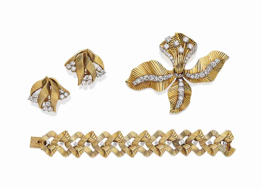 DEMI-PARURE DIAMANTS, PAR CART