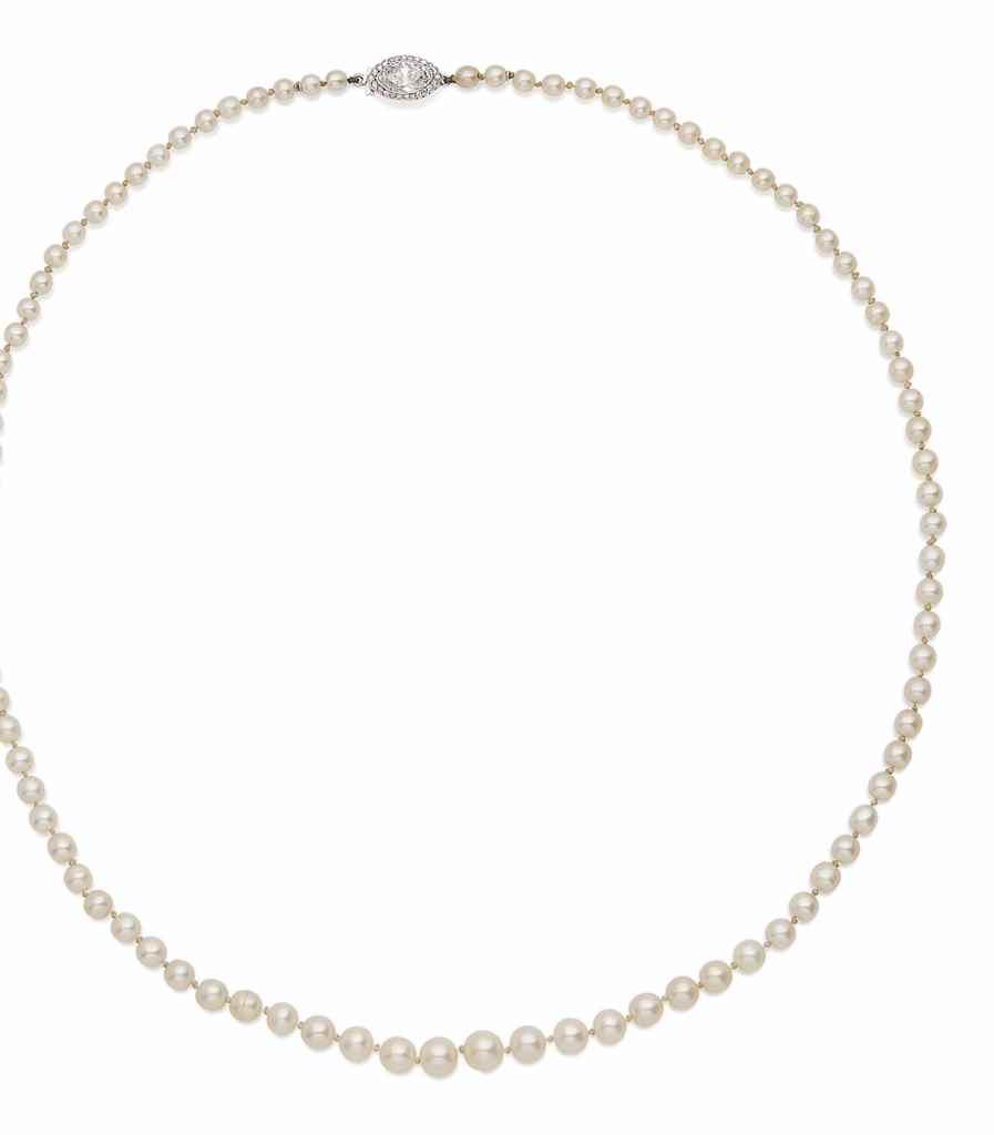 COLLIER PERLES FINES ET DIAMAN