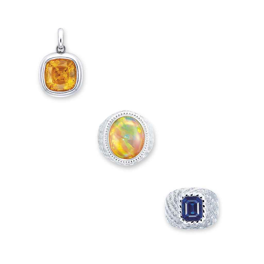 A GROUP OF MULTI-GEM JEWELLERY