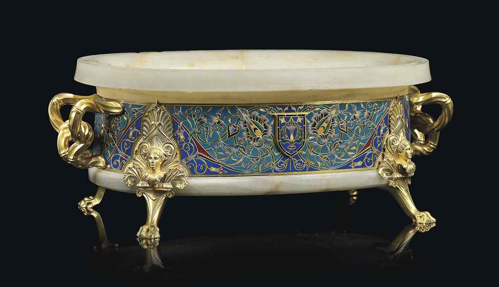 A FRENCH ORMOLU AND CHAMPLEVE