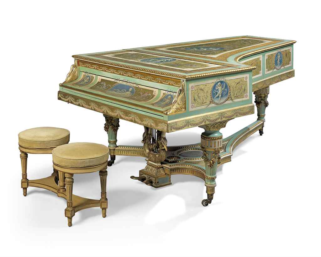 a napoleon iii giltwood polychrome painted and satinwood. Black Bedroom Furniture Sets. Home Design Ideas