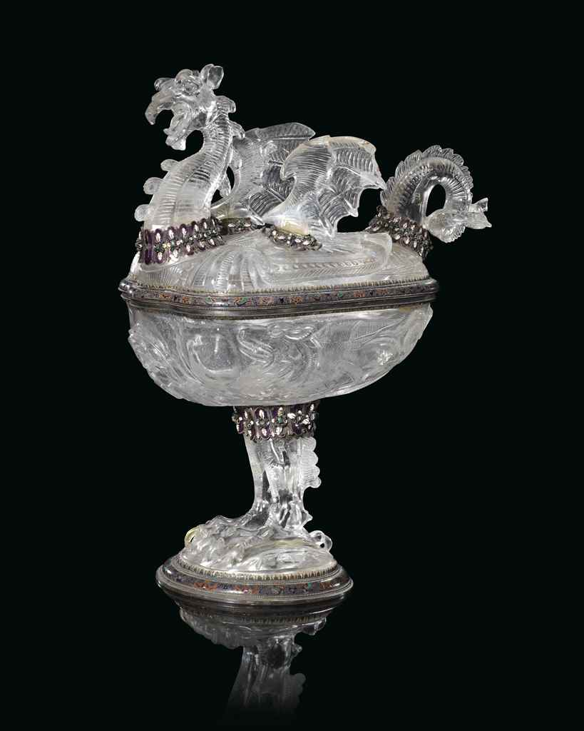 AN AUSTRIAN SILVER-GILT AND EN
