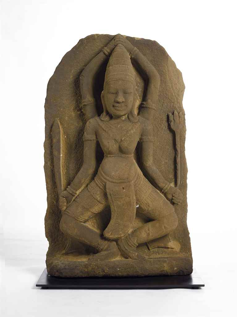 A STONE FIGURE OF DANCING SHIV