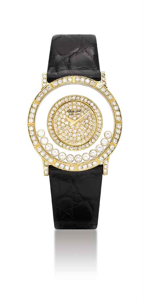 CHOPARD. AN 18K GOLD AND DIAMO