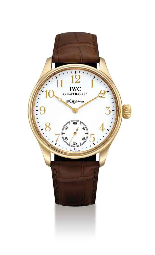 IWC. A FINE 18K GOLD LIMITED E
