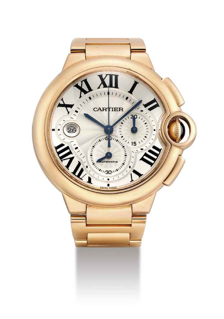 CARTIER. AN 18K PINK GOLD AUTO