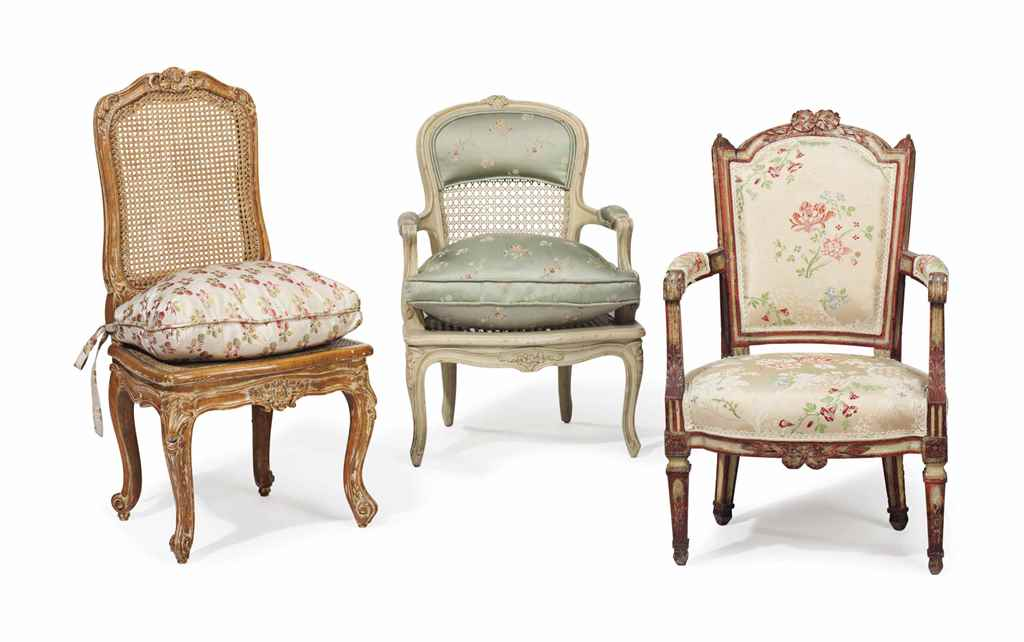 THREE FRENCH CHILD'S CHAIRS