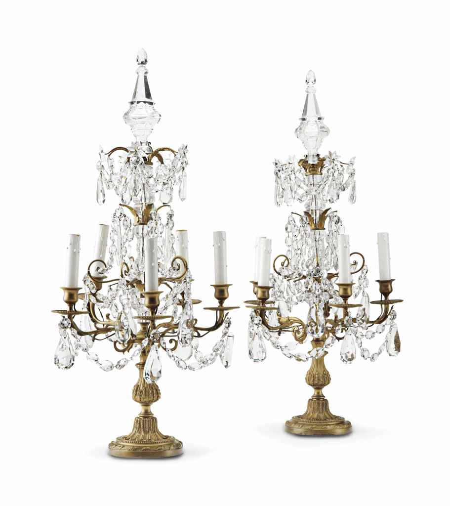 A PAIR OF LOUIS XVI STYLE FIVE