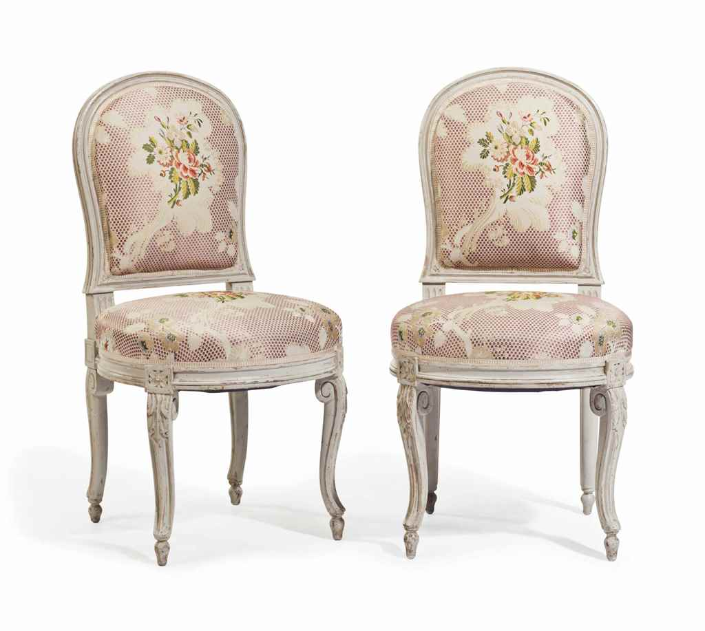A PAIR OF LOUIS XVI STYLE WHIT