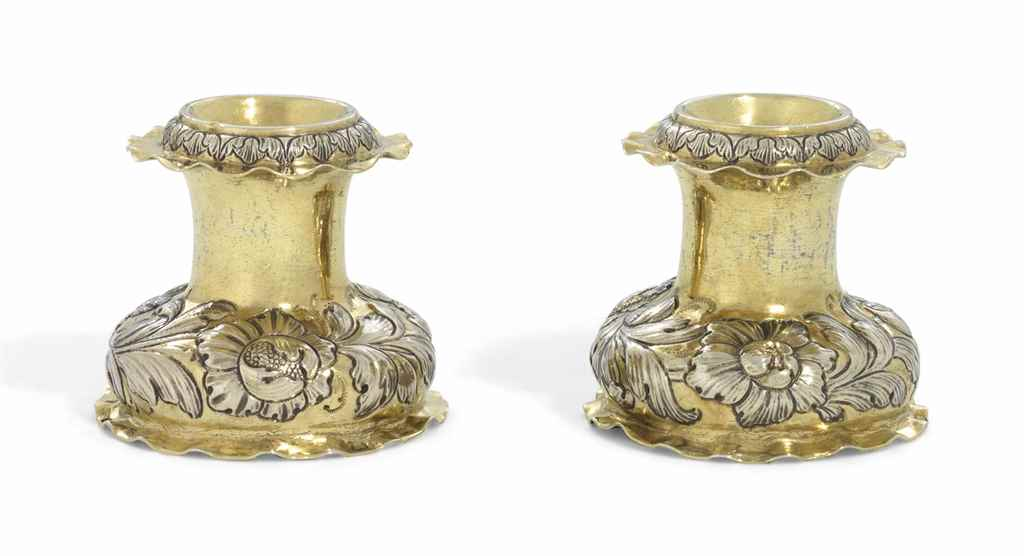 A PAIR OF GERMAN PARCEL-GILT S