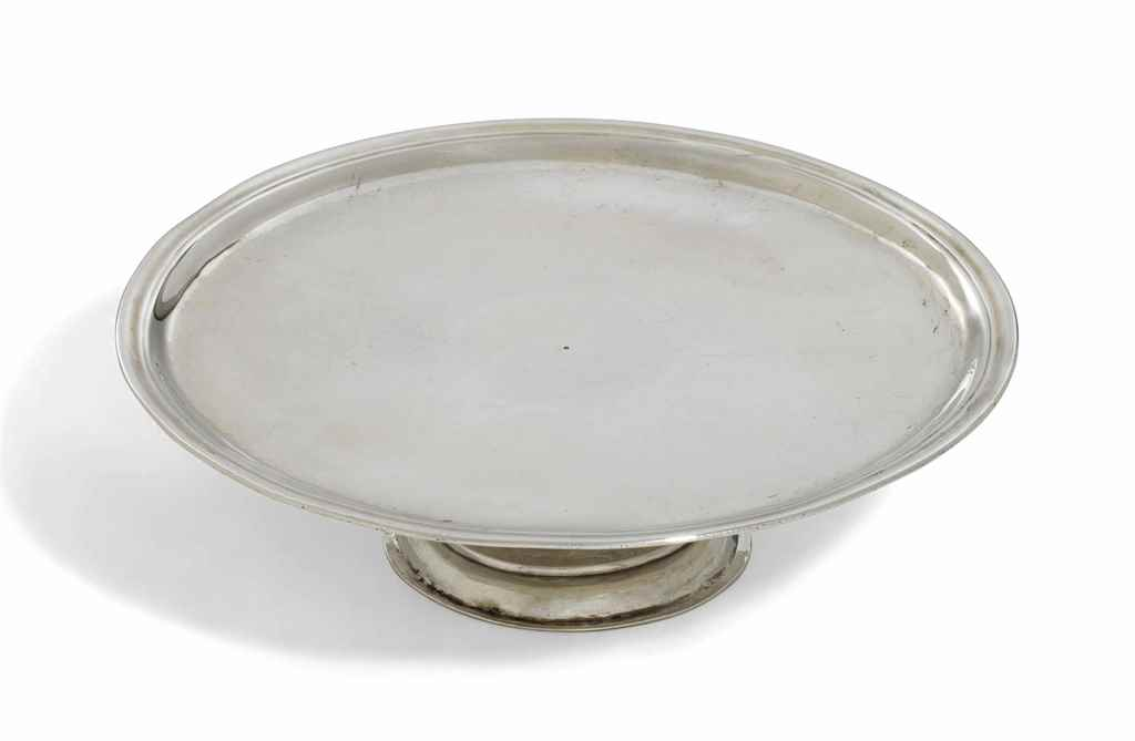 A QUEEN ANNE SILVER TAZZA