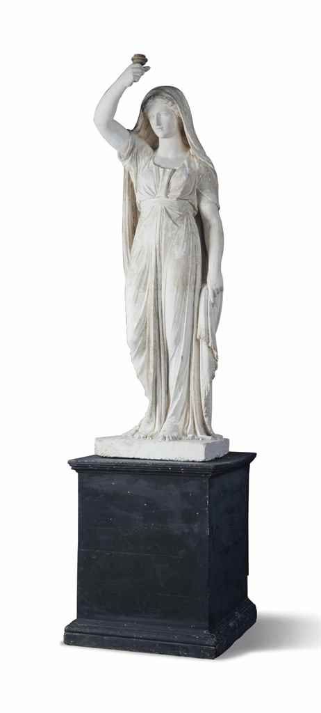 A REGENCY PLASTER FIGURE