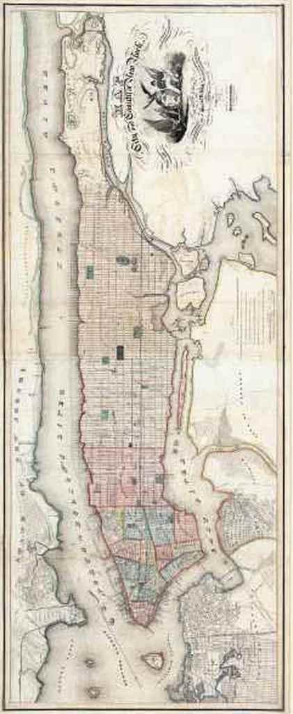 BURR, David (1803-1875). Map o