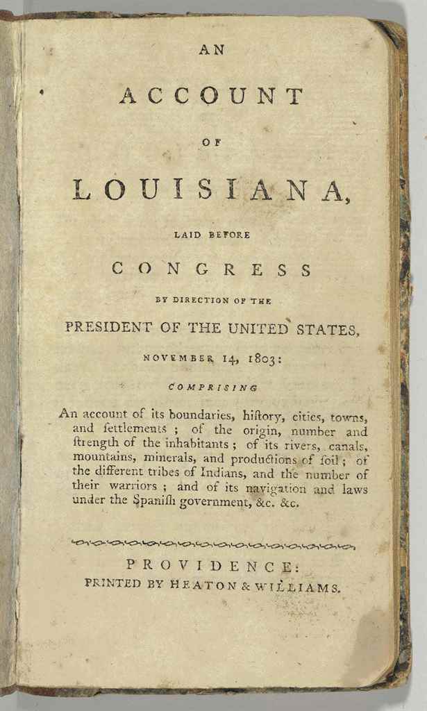 [LOUISIANA]. An Account of Lou