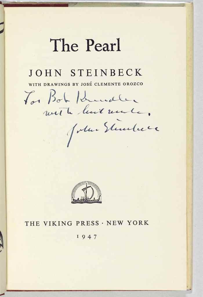 STEINBECK, John. The Pearl. Ne