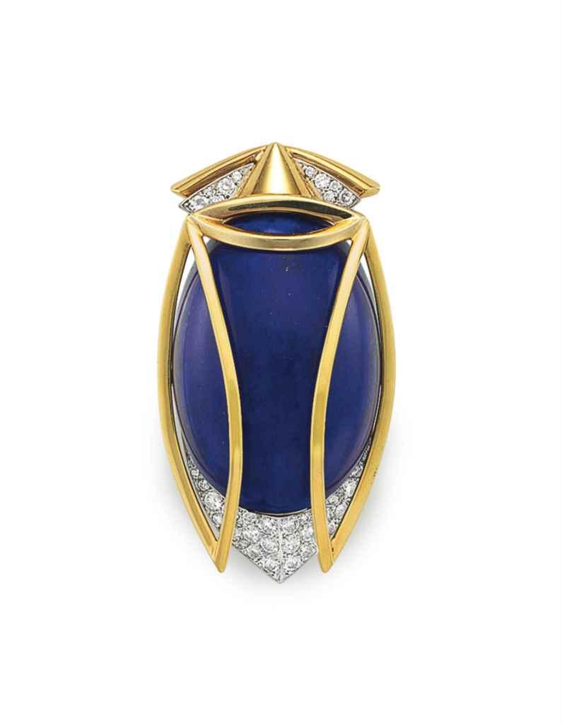 A DIAMOND, LAPIS LAZULI AND GO