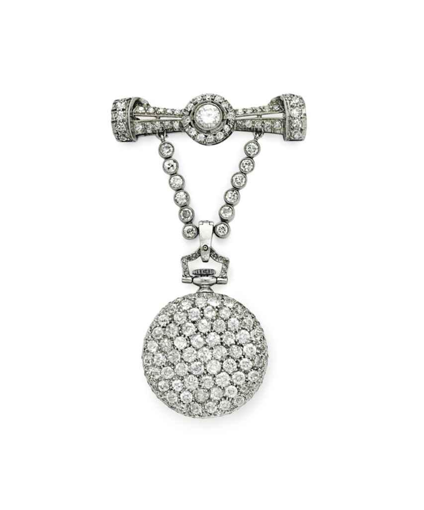 A BELLE ÉPOQUE DIAMOND LAPEL W